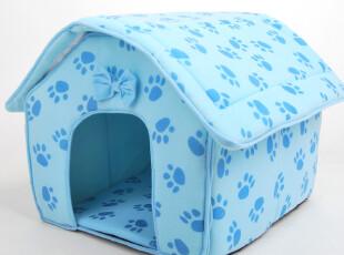 狗窝 脚印狗屋大号50*47cm 海棉 猫窝 宠物屋 舒适可拆卸Q,宠物用品,