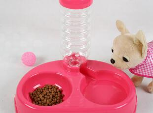 宠物自动饮水器 狗粮食盆自动出水 狗碗水碗双碗 防滑狗狗用品,宠物用品,