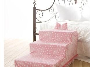 韩国直送 韩版可爱粉色圆点奢华公主时尚宠物楼梯 阶梯 垫子 包邮,宠物用品,