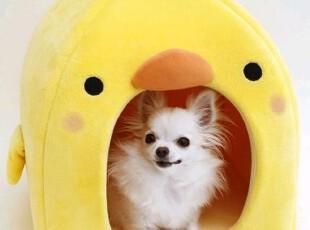 日本直送正品宠物用品 可爱小黄鸡猫窝狗窝保暖小屋A,宠物用品,