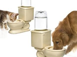 美国代购 Dog Toilet Bowl 恶搞 宠物用 猫狗适用 马桶宠物喂食碗,宠物用品,