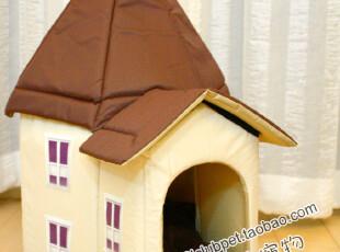 冬季上新●童话的故事!超可爱欧式尖顶城堡宠物窝 可拆卸收纳狗窝,宠物用品,