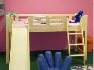 实木儿童套房家具儿童滑梯床带护栏松木实木家具,床,