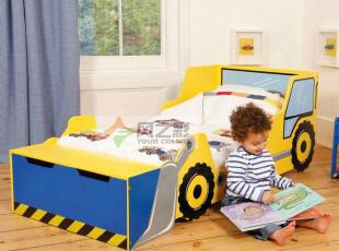全国包邮挖土机创意造型床 儿童房家具单人床 宝宝卡通床出口英国,床,