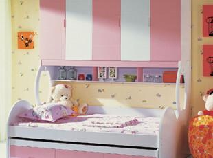 【满2000减200】火图腾 儿童家具 子母床 衣柜式组合床 多功能床,床,