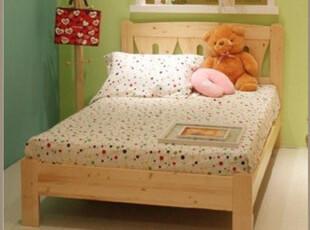 实木儿童床床松木床单人床 青少年床 松木床 1.51.8米床,床,