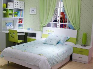 简迪 儿童套房家具 青少年床 儿童床 苹果绿 板床 特价床QC16,床,