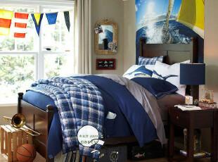 卧室 实木 家具 帕克 双人床 美式 活泼 可爱 美克美家 m027,床,