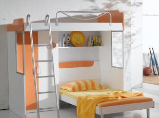 包物流 儿童房组合家具 多功能书桌衣柜 双层床 上下床带衣柜母子,床,