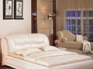 香港海马国际集团正品 真皮床 /软床/ 皮床/双人床 特价 TB01,床,