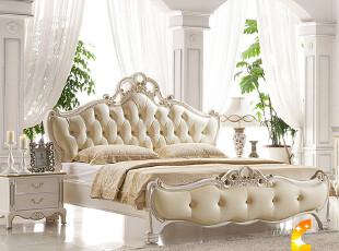 法丽莎家具 欧式床 实木床 田园 婚床 双人床 1.8 1.5米 特价包邮,床,