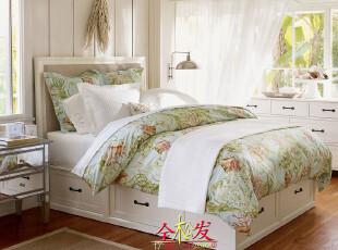 (PotteryBarn家具FBE034)Stratton美式箱式床/超Harbor House,床,