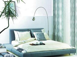 双人床现代简约榻榻米床软包床实木床布艺床宜家具床定做1.5 1.8,床,