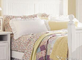 艾米尼奥实木家具-卧室系列 地中海风格双人床 床尾凳Y0203,床,