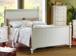 简约 韩式田园家居 橡木床 单人床 双人床 实木床 可定做,床,