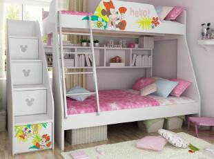 米妮幻想曲 儿童子母床 高低床 双层床迪士尼正品 新品,床,