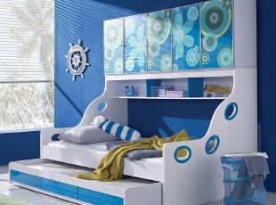 IKAZZ 爱家私 儿童家具 组合床 衣柜床 子母床 儿童床 包物流 602,床,