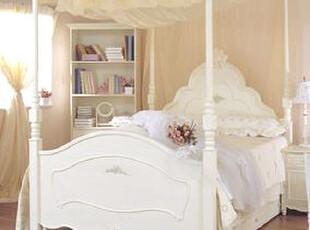 I满分 白领丽人儿童家具公主套房组合 实木双人床 时尚成人床1.5,床,