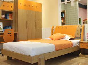 雅思洛 青少年儿童家具 水曲柳套房组合 儿童床 单人床D-2001A,床,