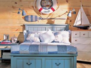 特价实木双人床1.8米 欧式田园风格 储物 美式比邻乡村家具定制,床,