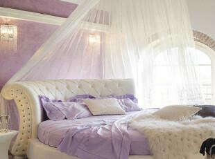艺曼世嘉 皮艺圆床 双人床 时尚 真皮 欧式 婚床 公主床 软床 Y26,床,