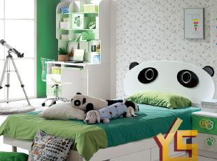 【半价返现】雅思洛 熊猫套房家具男孩 儿童卡通床 小床 A-17特价,床,