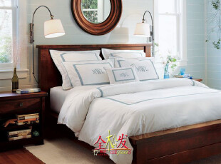 (PotteryBarn家具FBE035)Sumatra美式实木床/超Harbor House,床,