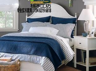 美式田园家具 实木床 欧式床 双人床 特价 1.5米 实木田园床定制,床,