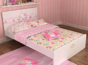 Hello Kitty儿童家具儿童床1.2米公主床1.5米床 单人床 粉红系列,床,