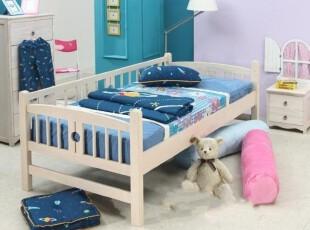 实木儿童床童床实木婴儿床松木床公主床护栏床宝宝床围栏特价包邮,床,