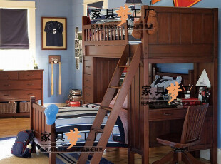 Pottery Barn全实木上下床定制儿童实木家具定做CP-KSCP-CC-P01,床,