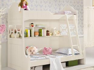 【方格诚品】韩式家具 实木儿童床 1.2米儿童床 上下铺儿童床,床,