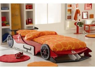 果奇儿童床 跑车床  单人床  F1跑车床 男孩,床,