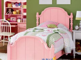 定制/美式乡村/欧式田园/地中海风格/实木环保家具 儿童床/单人床,床,