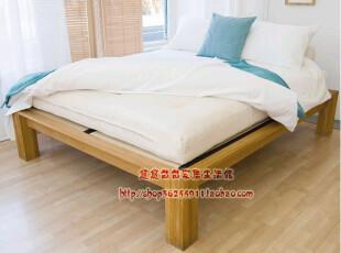 出口原单家具 白橡柞木 全实木 欧式 现代 双人床(1.5米),床,