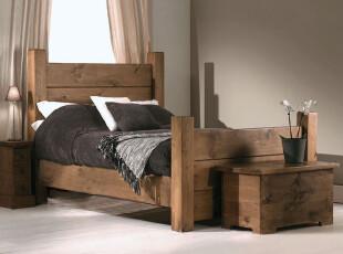 美式乡村系列 纯实木家具 美国松木床 特价,床,