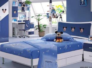 【满2000减200】火图腾 儿童家具 套房组合床 米老鼠蓝色儿童床,床,