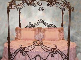 泰丽斯 地中海 时尚 简约 欧式 田园 浪漫 圆形 公主床 铁艺圆床,床,