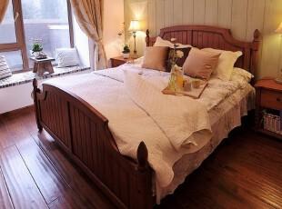 森林风 美式实木手工 流水缝双人床00,床,