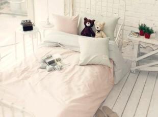韩国热卖 特价 全棉素色四件套 公主单人床三件套 床上用品 宜家,床品,