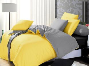 如怡家纺 欧美简约纯色全棉床单四件套 素色纯棉床上用品 CS04,床品,