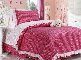 集分宝 苏梦全棉 床上三件套 床品纯棉可爱公主学生床单三件套,床品,