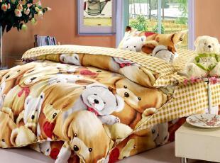 纯棉床品三件套 冲钻特价全棉斜纹 床上用品 霍尔玩具屋正品家纺,床品,