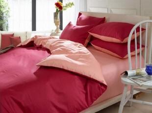 特价外单 红色婚庆床品 纯棉四件套1.5米1.8米纯色,床品,