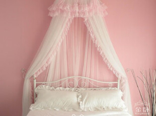 [金卧床幔] 公主蕾丝蚊帐床幔床罩床饰纱幔  安妮宝贝,床品,