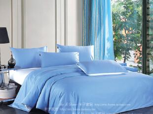 米子家居家纺 贡缎活性印染床上用品床单床笠四件套 (爱琴海),床品,