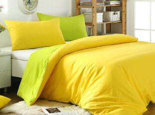 【为她他】布施眠纯棉素色贡缎床单被罩枕套三件套 简约时尚包邮,床品,