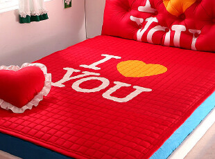 【韩国代购】I LOVE YOU爱的表白 薄床垫床褥地垫地毯150x200,床品,