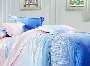 今日送毛毯 九洲鹿家纺床上用品全棉斜纹印花公主四件套 特价包邮,床品,