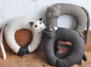 本原亚麻(猫)颈枕 办公室枕 U型枕 午休枕 汽车枕 三色个性礼品,床品,